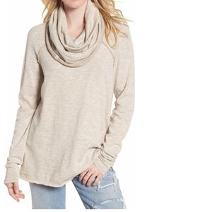 FREE PEOPLE beach Cocoon Cowl Neck pullover M